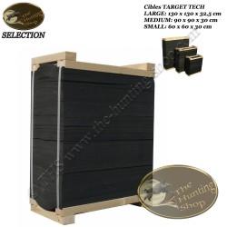 TARGET TECH cible de tir à l'arc mur multicouches en mousse avec support en bois 60 cm - 90 cm - 130 cm