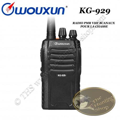WOUXUN KG-929 Radio PMR portative compacte pour la chasse de type talkie walkie FM VHF