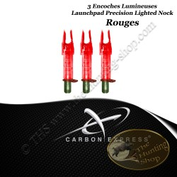 CARBON EXPRESS Encoches Lumineuses Launchpad Precision ROUGES pour flèches de type Standard