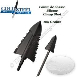 COLD STEEL Cheap Shot Pointes de chasse bilame bon marché en plastique polymère
