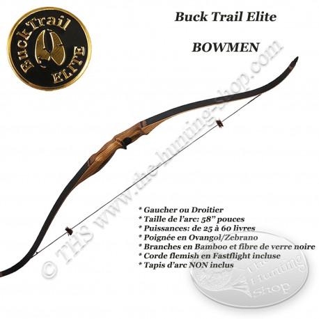 BUCK TRAIL ELITE Bowmen Arc recurve monobloc court pour la chasse et le tir 3D