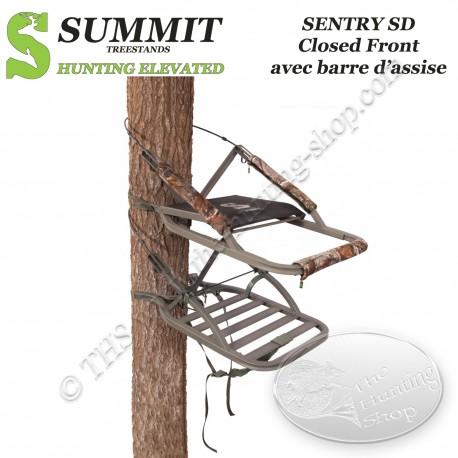 SUMMIT Treestand auto-grimpant SENTRY SD Closed Front - Fermé avec barre d'assise