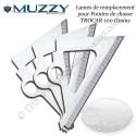 MUZZY Trocar Lames de remplacement pour 3 pointes de chasse trilame 100 et 125 grains