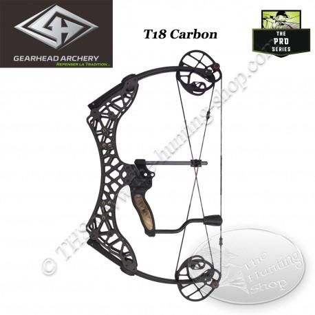 GEARHEAD ARCHERY T18 CARBON Arc compound ultra compact et léger de 18 pouces d'entraxe en carbone