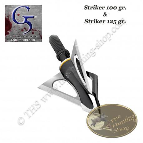 G5 Striker Pointe de chasse à lames fixes trilame