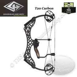 GEARHEAD ARCHERY T20 CARBON Arc compound en carbone ultra compact et léger de 20 pouces d'entraxe