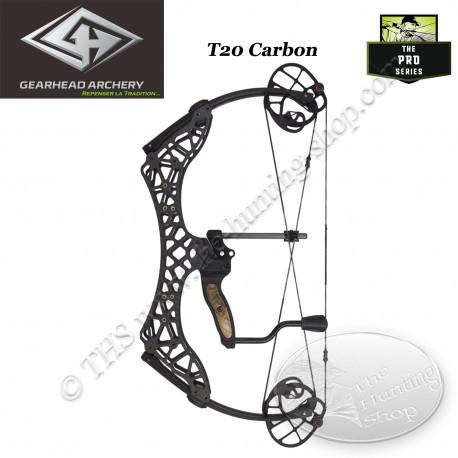 GEARHEAD ARCHERY T20 CARBON Arc compound en carbone ultra compact et léger de 20 pouces d'entraxe