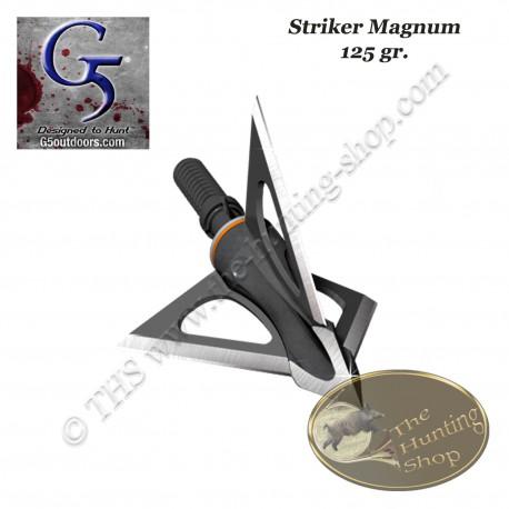 G5 Striker Magnum Pointe de chasse à lames fixes trilame