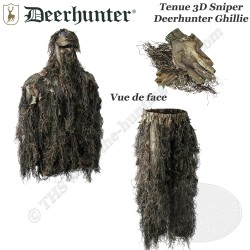 DEERHUNTER Ensemble Ghillie 3D Sniper camouflage Sneaky déstructurant