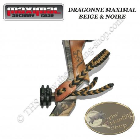 MAXIMAL Dragonne en fil tressé beige et noir
