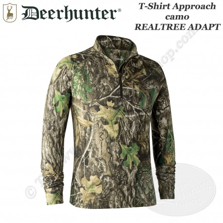 DEERHUNTER T-shirt longues manches Approach camo Realtree Adapt - 8854 - Face