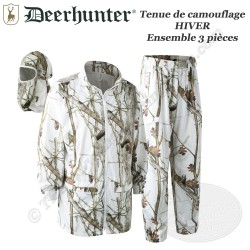 DEERHUNTER Ensemble de camouflage Hiver Neige 3 pièces - 2118