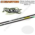 EASTON Axis 6 Flèches de chasse et tir 3D en carbone 5mm empennées avec des vanes Blazer 2 pouces