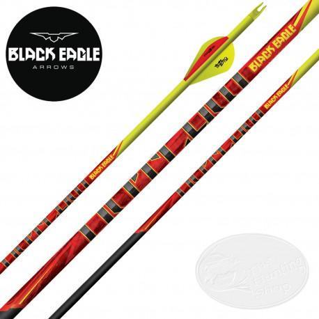 BLACK EAGLE ARROWS Outlaw 6 Flèches de chasse et tir 3D en carbone avec cresting et vanes Blazer 2 pouces