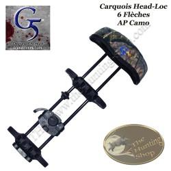G5 Head-Loc Carquois 6 flèches pour arc de chasse à poulies