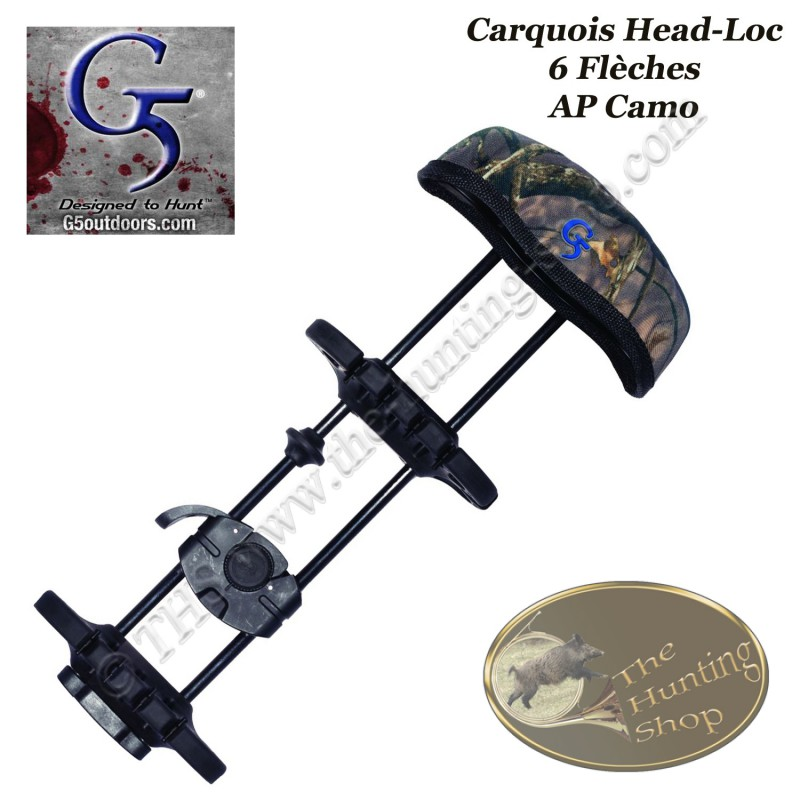 g5 head loc carquois 6 fl ches pour arc de chasse poulies the hunting shop. Black Bedroom Furniture Sets. Home Design Ideas