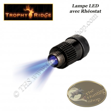 TROPHY RIDGE Lampe à LED bleue avec rhéostat pour viseurs à fibre optique
