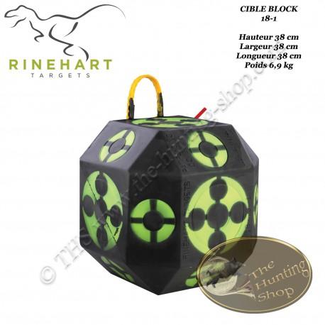 RINEHART 18-1 cible bloc en mousse solide et confortable, convient pour lames de chasse