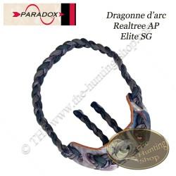 PARADOX Dragonne d'arc tressée avec finition cuir.