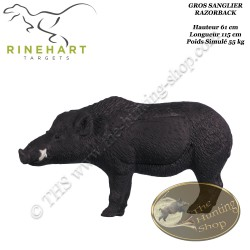 RINEHART Cible 3D Gros Sanglier Razorback Boar en mousse pour le tir à l'arc
