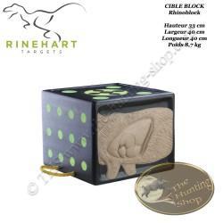 RINEHART RhinoBlock cible bloc solide et confortable pour le tir à l'arc, convient pour lames de chasse