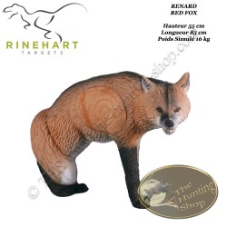 RINEHART Cible 3D Renard Red Fox en mousse pour le tir à l'arc