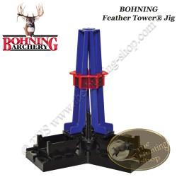BOHNING Feather Tower Jig Empenneuse 3 plumes naturelles droites ou gauches en une fois