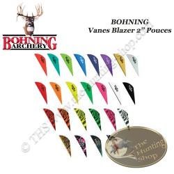 """BOHNING Vanes Blazer 2"""" pouces en plastique unies ou tigrées"""