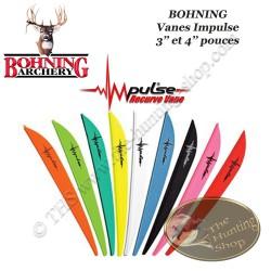 BOHNING Vanes Impulse spéciales pour arcs traditionnels recurve assortiment de couleurs