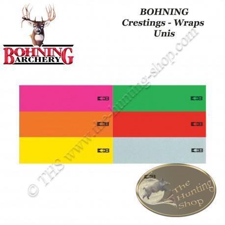 """BOHNING Blazer 4"""" Arrow Wraps autocollants de type cresting pour flèches - assortiment de couleurs"""