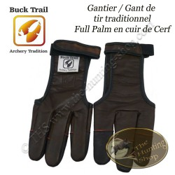BUCK TRAIL Gantier Full Palm en cuir de cerf