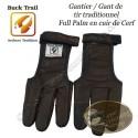 BUCK TRAIL Gantier Full Palm en cuir de cerf