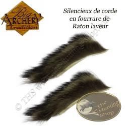 BIG ARCHERY TRADITION Silencieux de corde en fourrure de Raton laveur