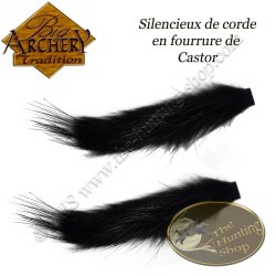 BIG ARCHERY TRADITION Silencieux de corde en fourrure de Castor