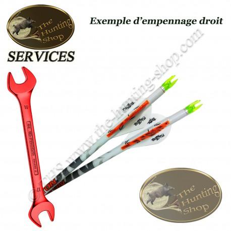 SERVICES THS Montage des flèches avec empennage droit