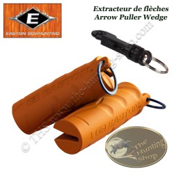 EASTON Arrow Puller Wedge Retire flèches en gomme caoutchoutée orange avec mousqueton