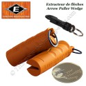 EASTON Arrow Puller Wedge Retire flèches en gomme caoutchoutée orange avec mousqueton
