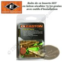 EASTON Inserts HIT lourds en laiton sécables 75-50 grains pour tubes et flèches Axis 12 Pack