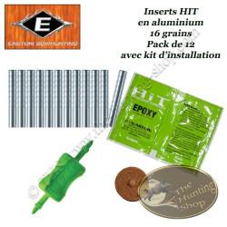 EASTON Inserts HIT légers en aluminium pour tubes et flèches  Axis 12 Pack avec kit d'installation