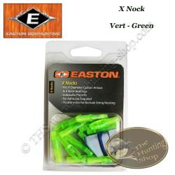 EASTON Encoches intérieures X Nocks 12 Pack VERT - GREEN