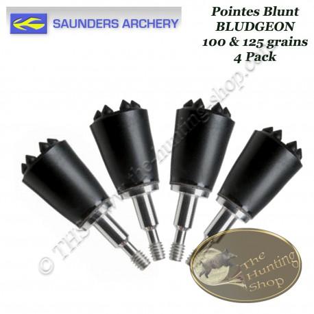SAUNDERS Bludgeon Pointes blunt en plastique dur pour la billebaude l'ArcTRAP et la chasse du petit gibier 100 & 125 grains