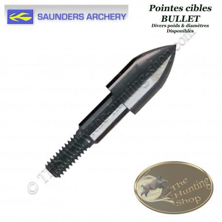 SAUNDERS Bullet Pointes d'entrainement à visser en acier de forme bullet pour le tir sur cible