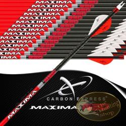 CARBON EXPRESS Maxima Red flèches de chasse et tir 3D empennées