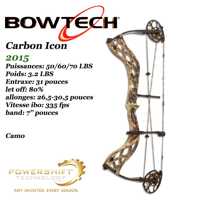 BOWTECH Carbon Icon Arc compound à poulies pour la chasse et