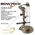 BOWTECH Carbon Icon Arc compound à poulies en kit RAK pour la chasse et le tir 3D