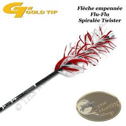GOLD TIP Twister Flèche Flu-Flu en carbone empennée en spirale avec des plumes naturelles pour le tir en vol
