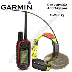 GARMIN ALPHA® 100 GPS portable et collier de suivi pour chien T5 ou TT15 avec fonction de dressage  à distance