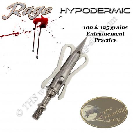 RAGE Hypodermic Practice Pointe de chasse d'entrainement en acier inox 100 & 125 grains
