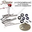 RAGE Hypodermic Blades Lames de remplacement pour 3 pointes de chasse Hypodermic 100 & 125 grains