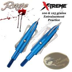 RAGE X-Treme Practice Pointe de chasse d'entrainement 100 & 125 grains